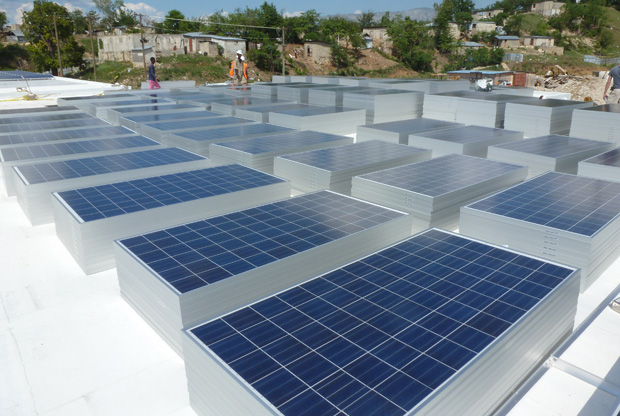 Solar Panels Arrive At Mirebalais National Teaching