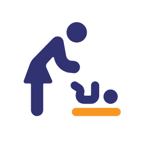 Graphic of woman and baby