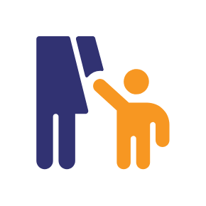 Graphic of woman holding child's hand