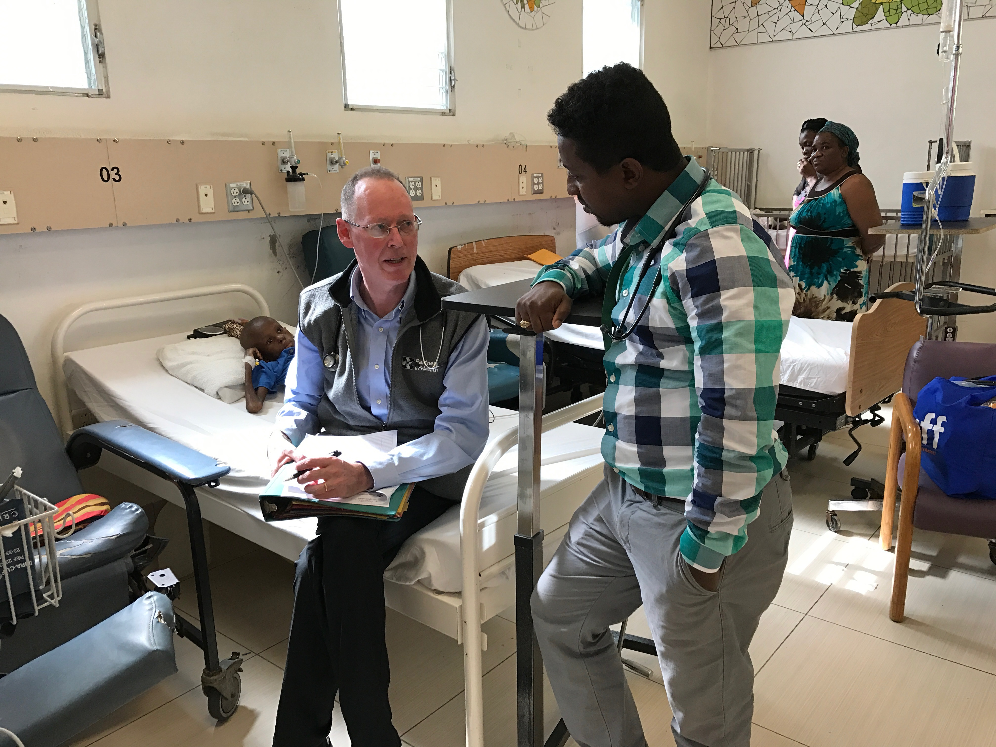 Dr. Paul Farmer at University Hospital in Mirebalais, Haiti