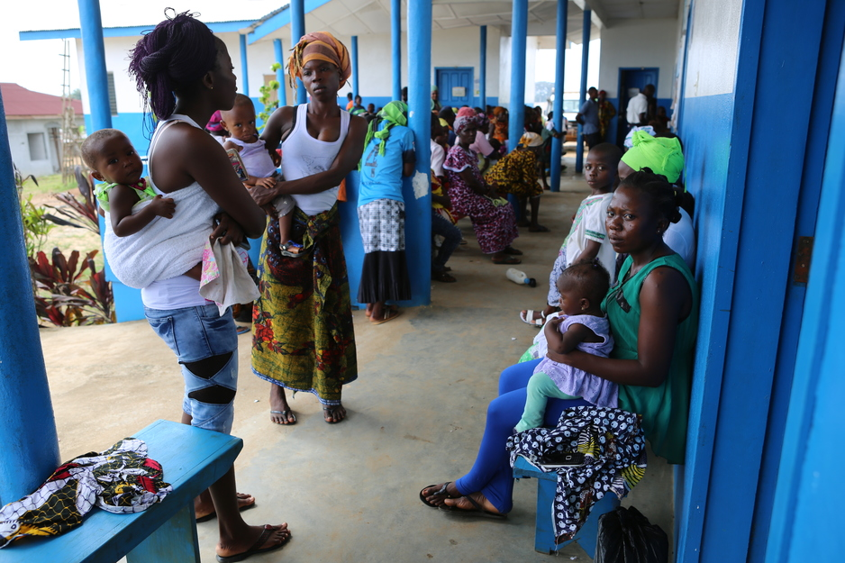 Women wait for prenatal care visits at Pleebo Health Center