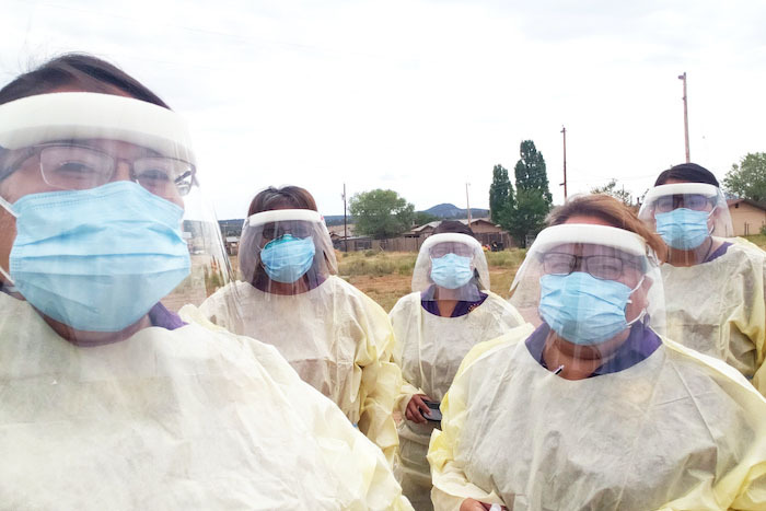 Navajo nation caregivers in ppe