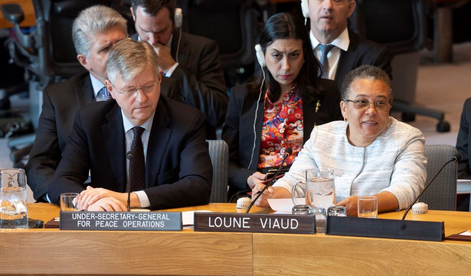 Loune Viaud, executive director of Zanmi Lasante, as PIH is known in Haiti, briefed the United Nations Security Council on the challenges facing women and girls in Haiti.