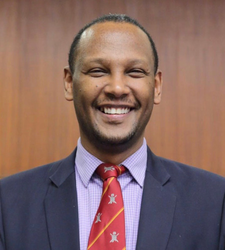 Prof. Abebe Bekele, dean of the University of Global Health Equity in northern Rwanda