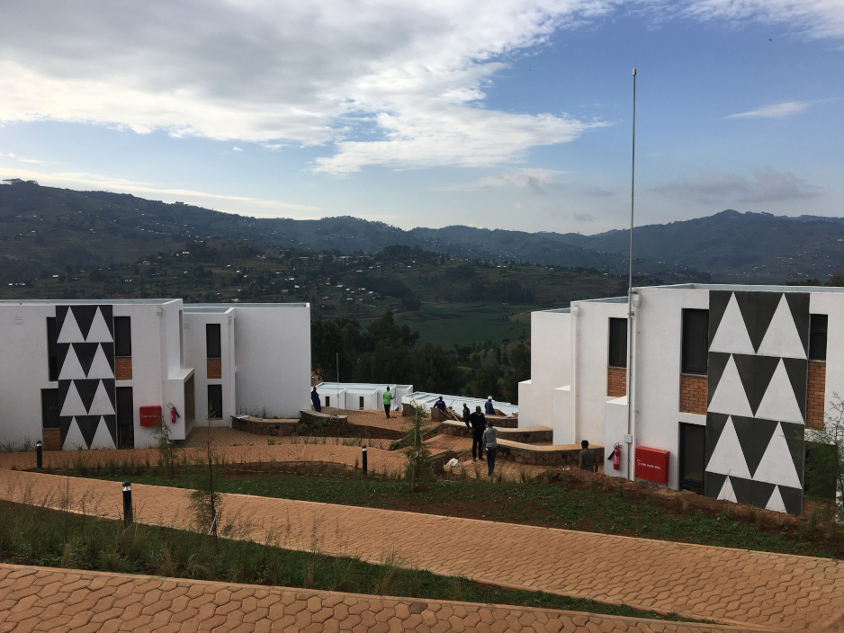 UGHE buildings are adorned with traditional Rwandan art patterns