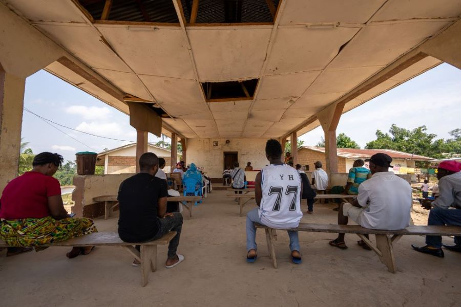 A community training session in Kono