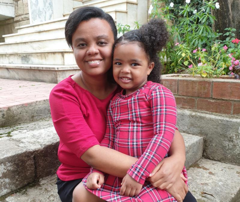 Sosina Dessalegn and her daughter, Lenova