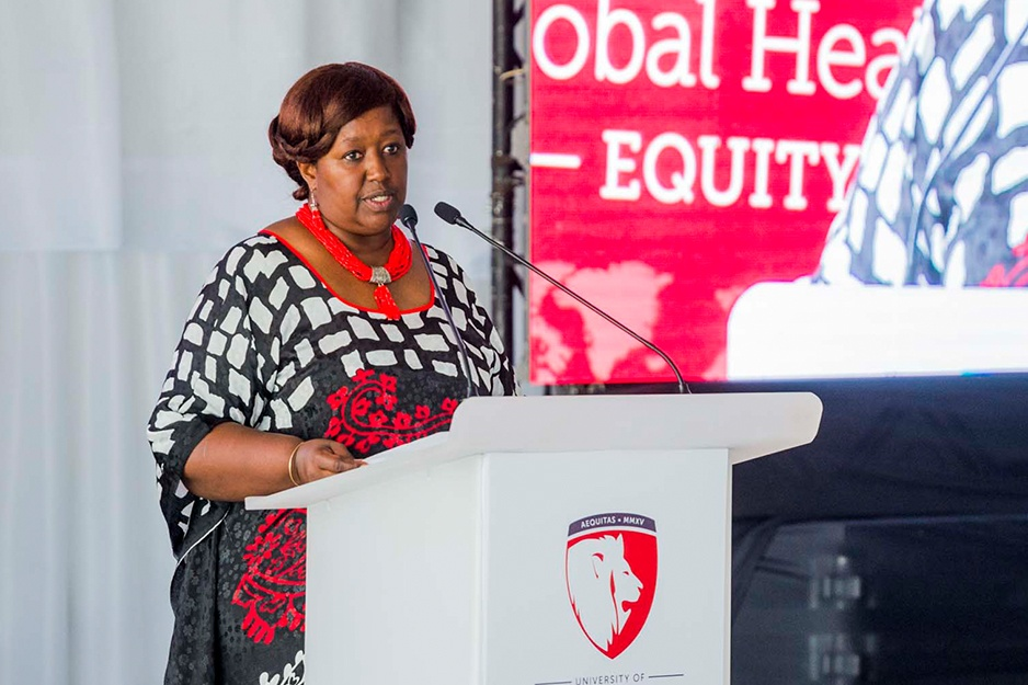 Dr. Agnes Binagwaho at the University of Global Health Equity in January 2019
