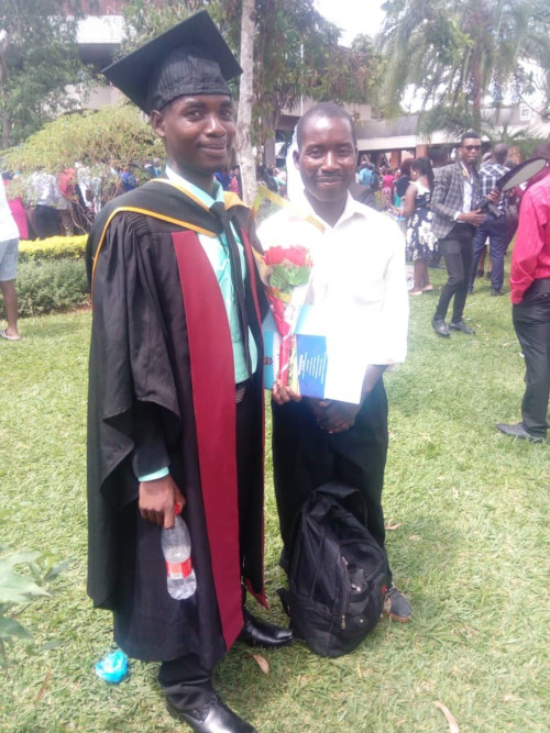 Doctor Kazinga at his graduation in March
