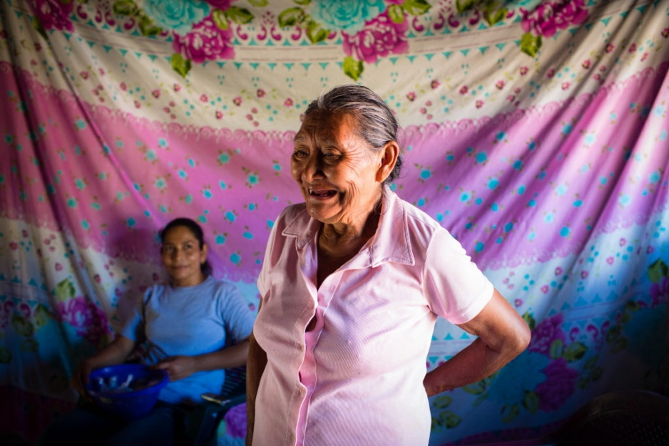 Midwife Margarita laughs in Chiapas, Mexico