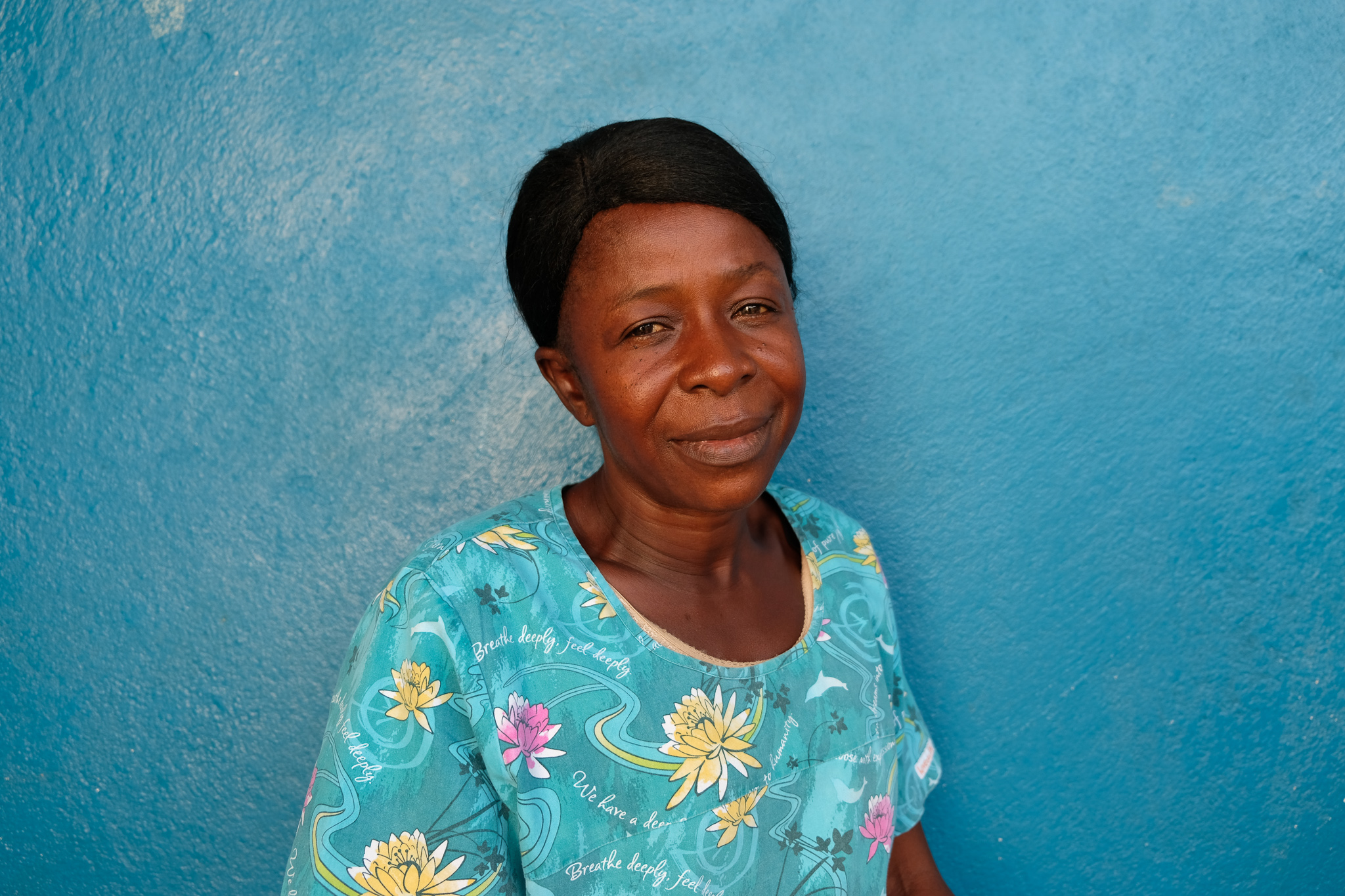 Traditional birth attendant in Sierra Leone
