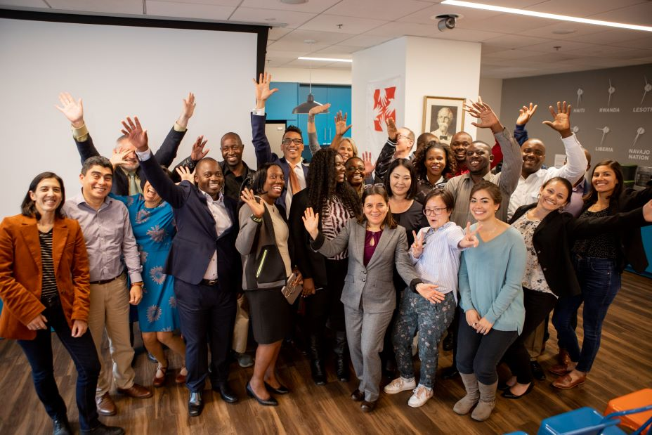 Laboratory technicians and leaders from PIH-supported labs around the world gather for the third-annual global lab workshop at PIH's Boston office.