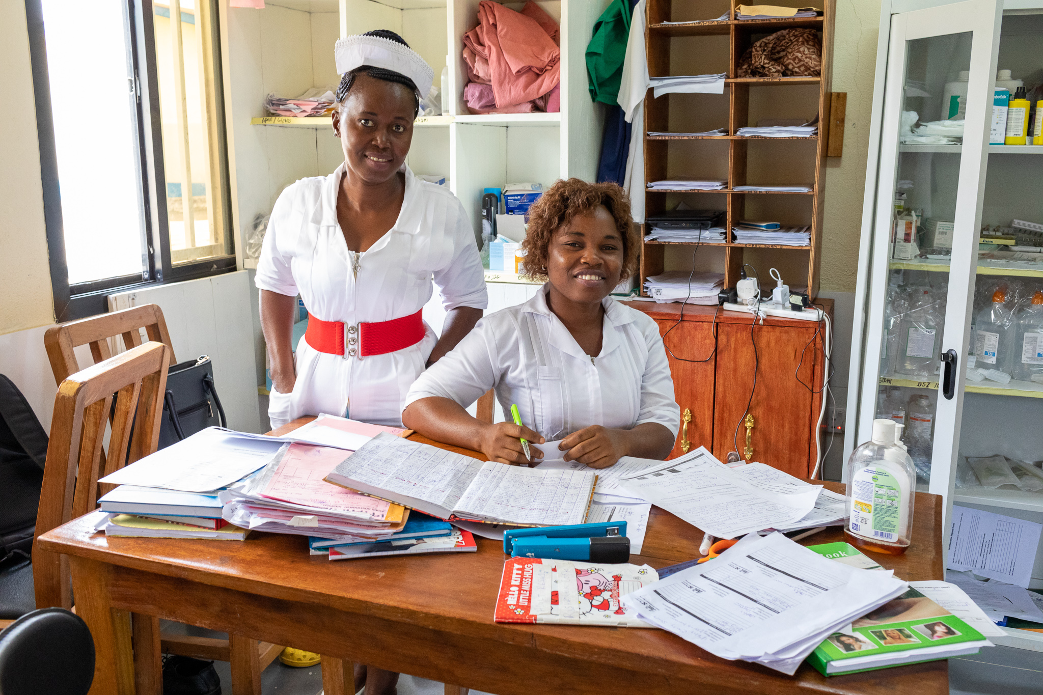 Emergency department nurses at a hospital in Sierra Leone