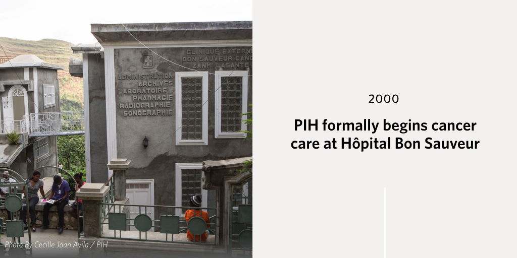 Building in Cange, Haiti to commemorate 2011 event: PIH begins a breast cancer clinic at Hópital Bon Sauveur in Cange.