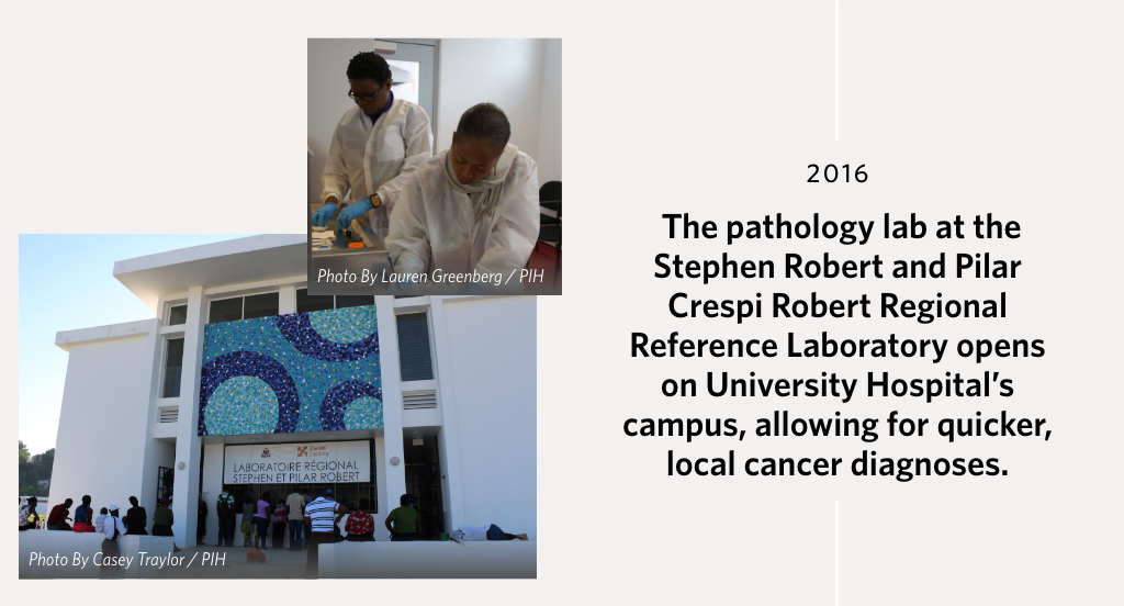 The pathology lab at the Stephen Robert and Pilar Crespi Robert Regional Reference Laboratory opens on University Hospital's campus, allowing for quicker, local cancer diagnoses.