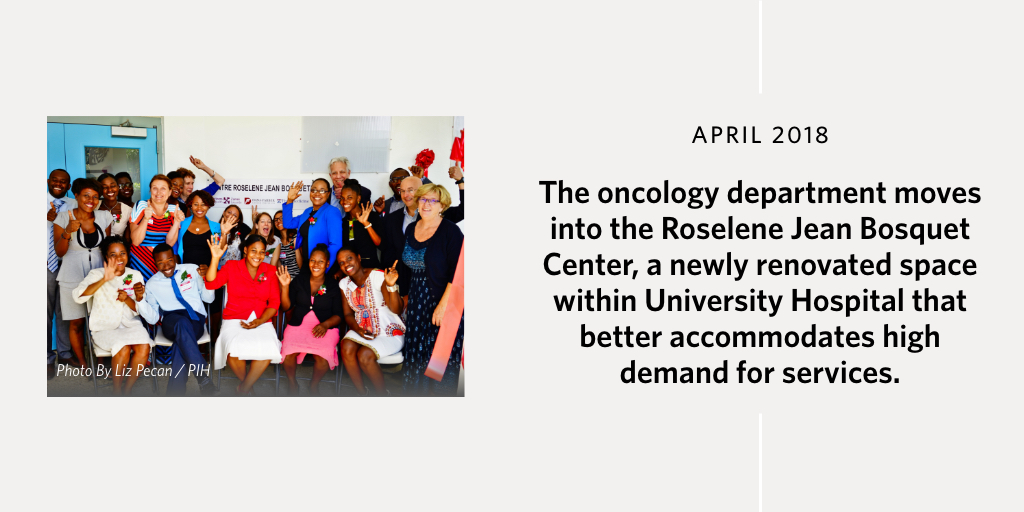 The oncology department moves into the Roselene Jean Bosquet Center, a newly renovated space within University Hospital that better accommodates high demand for services.