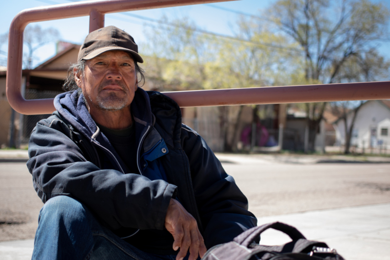 Andrew Hale received a COVID-19 test and social support in Gallup, N.M.