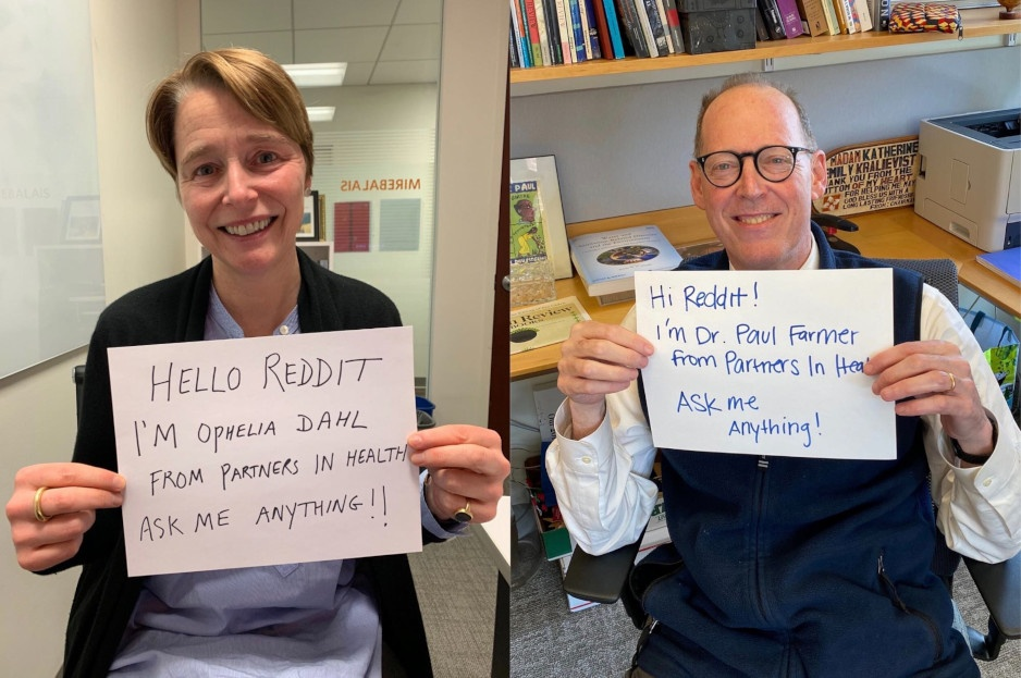 PIH co-founders Ophelia Dahl and Dr. Paul Farmer