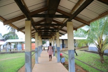 PIH-supported J.J. Dossen Hospital in Maryland County, Liberia