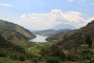 Lake Burera in northern Rwanda