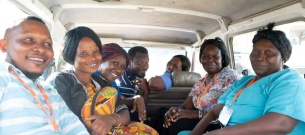 The community maternal health outreach team in the van